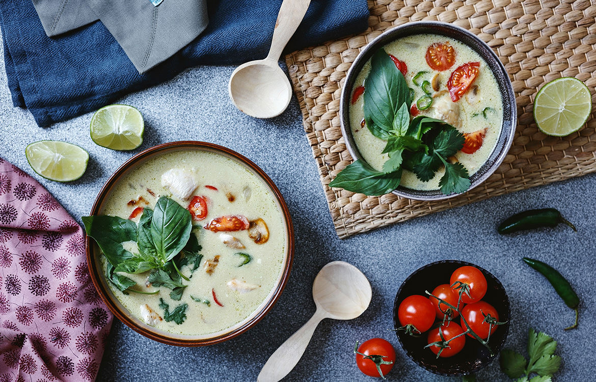 Thai Chicken And Eggplant Green Curry