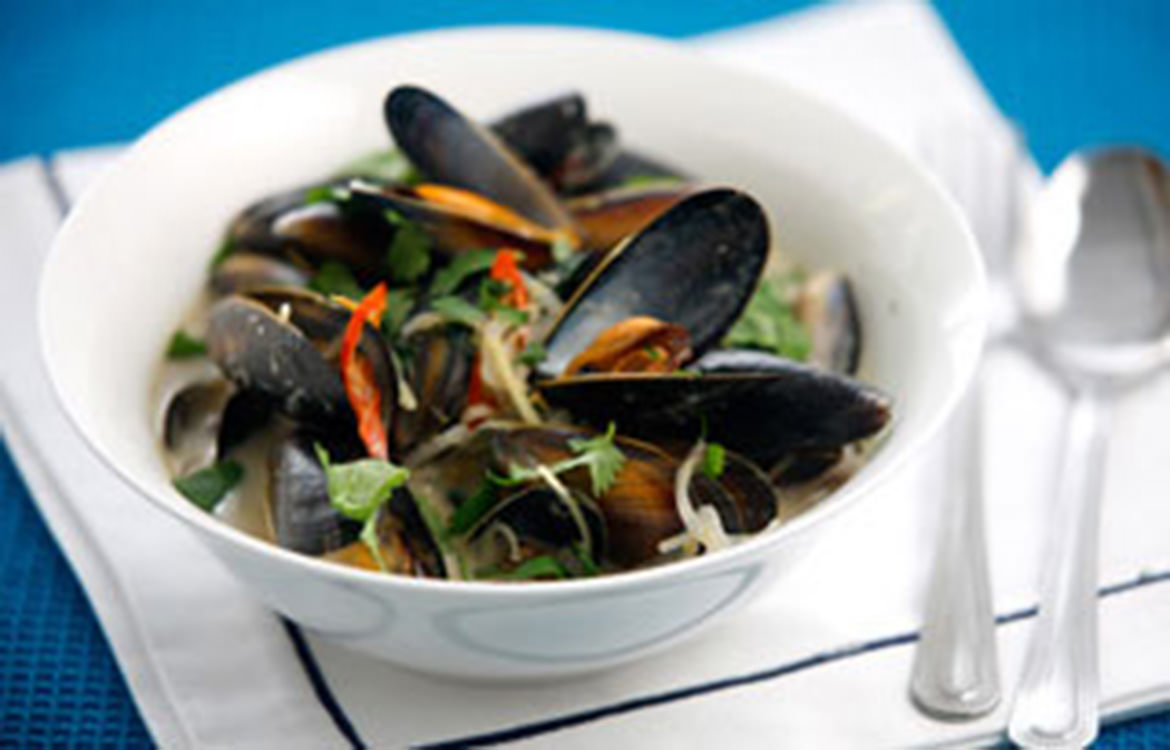Thai infused mussels